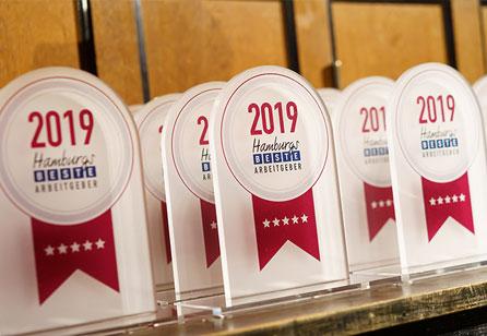 Auszeichnung 2019 - Hamburgs beste Arbeitgeber